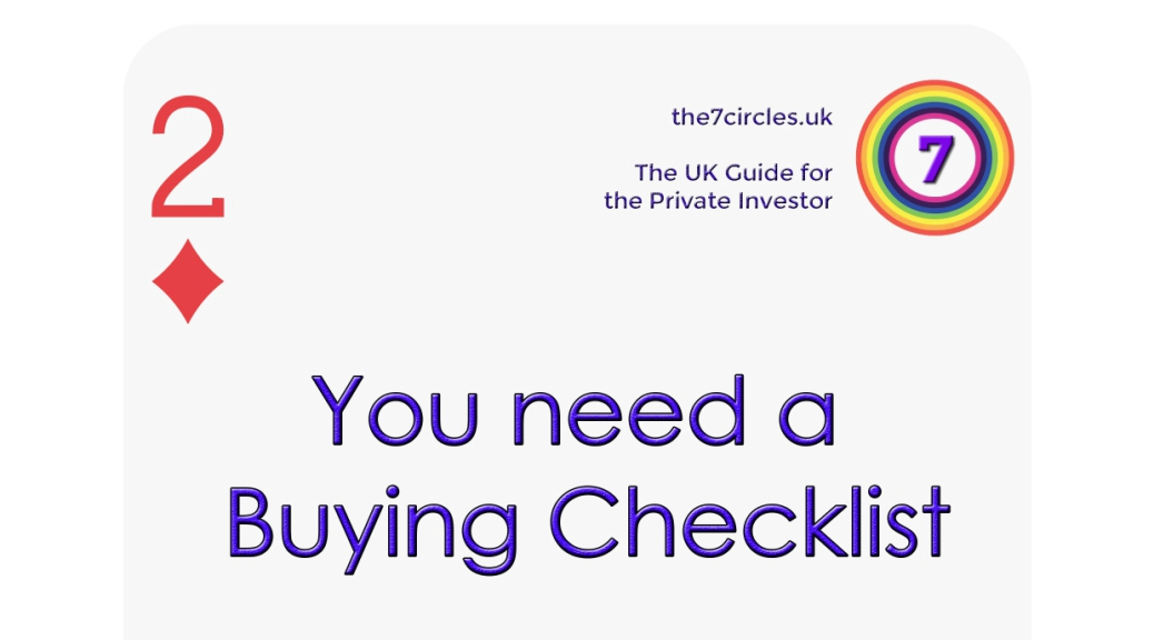 You need a Buying Checklist