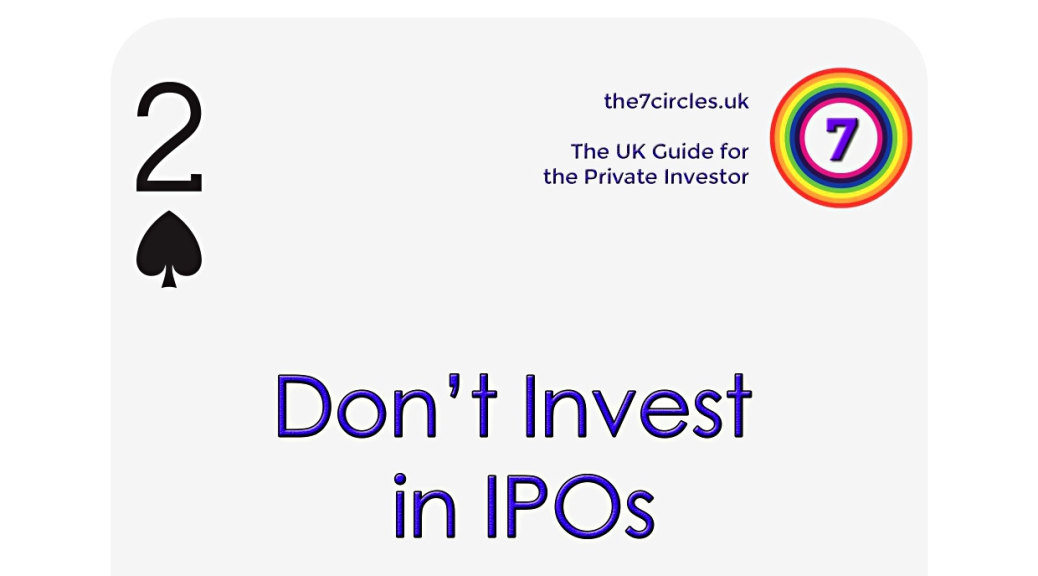 Don't Invest in IPOs