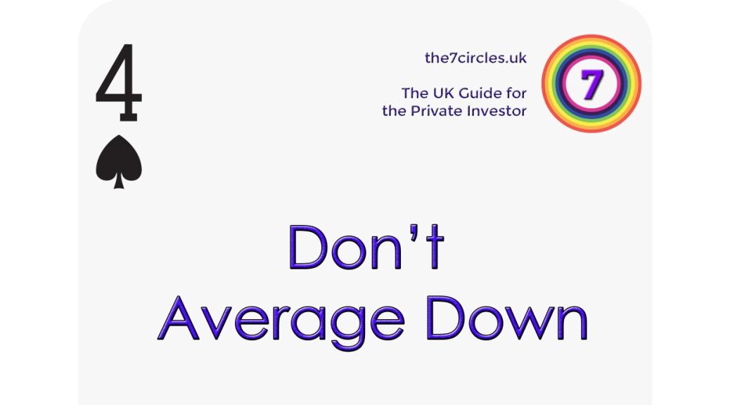 Don't Average Down