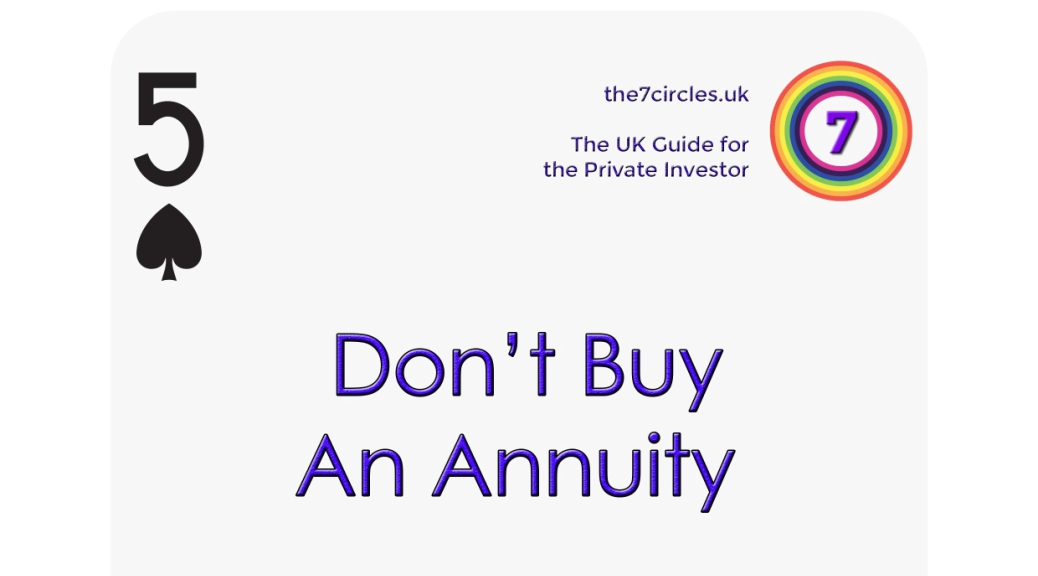 Don't Buy an Annuity
