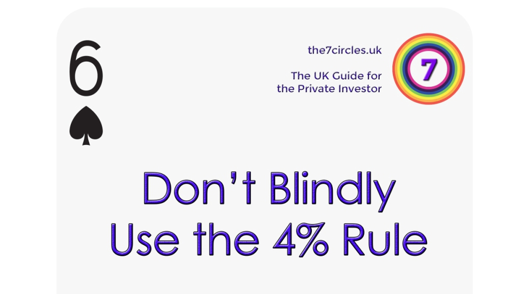 Don't Blindly Use the 4% Rule