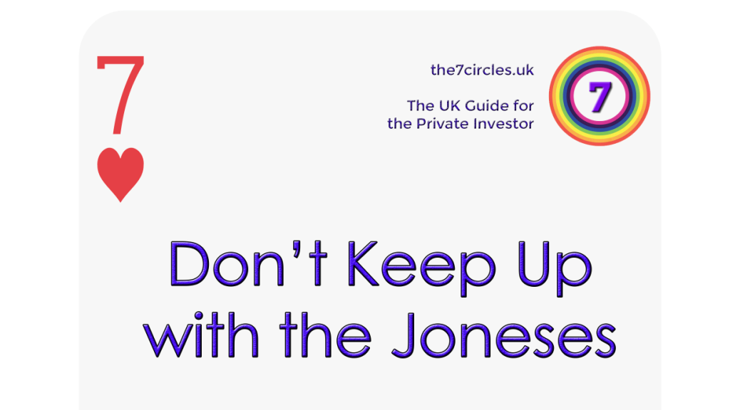 Don't Keep Up with the Joneses